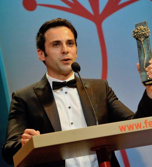 Carlo D'Ursi, productor, actor, director, ganador del Festival de Málaga